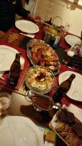 Abendessen auf dem Susten Hospiz
